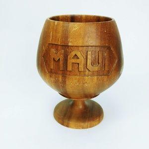 Vintage Monkey Pod Wood Tiki Cup
